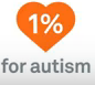 donate to 1% for autistm